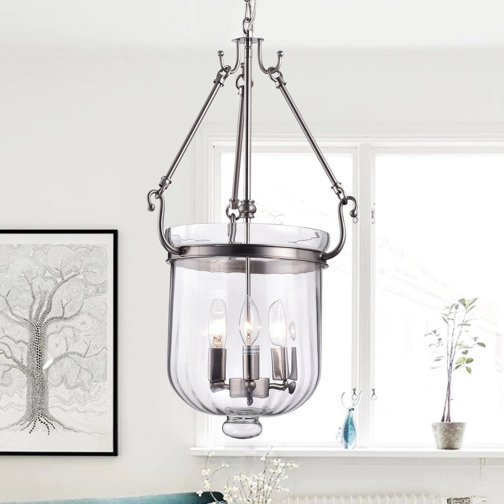 Warehouse Of Tiffany Winfield 3 Light Candle Style Chandelier Reviews