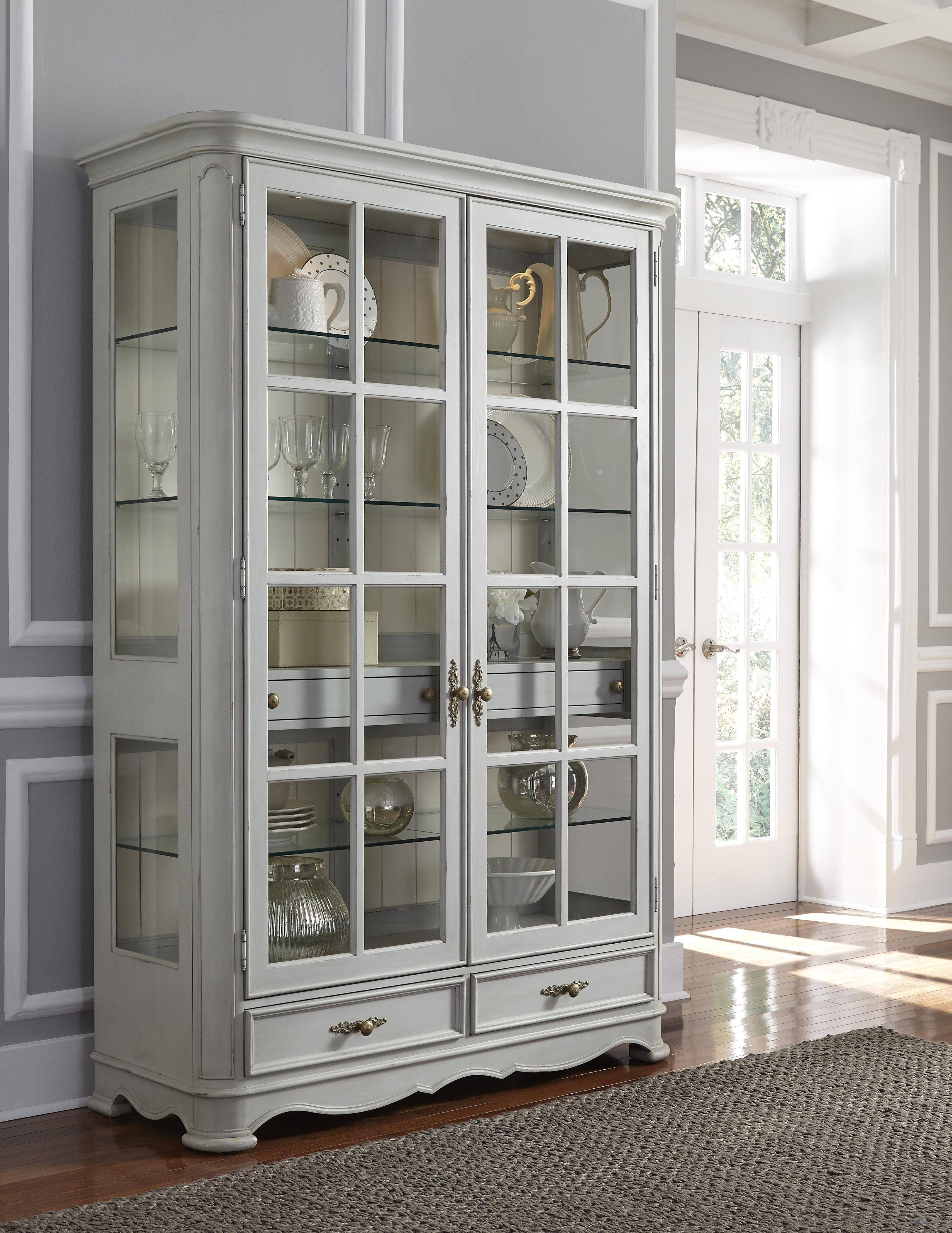 One Allium Way Artrip Painted Curio Cabinet | Wayfair
