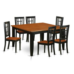 Parfait 7 Piece Dining Set by East West Furniture