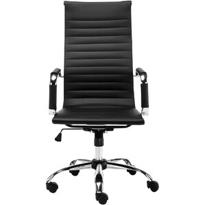 highback leather desk chair