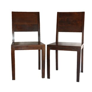 Lachlan Simple Acacia Wood Side Chair (Set Of 2)