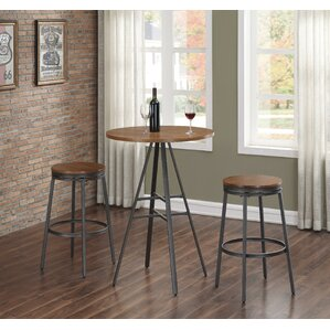 Aquirre 3PC Pub Height Table Set with Bac..