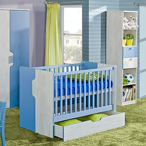 blue nursery furniture. nuki 2in1 convertible 2 piece crib set with mattress blue nursery furniture