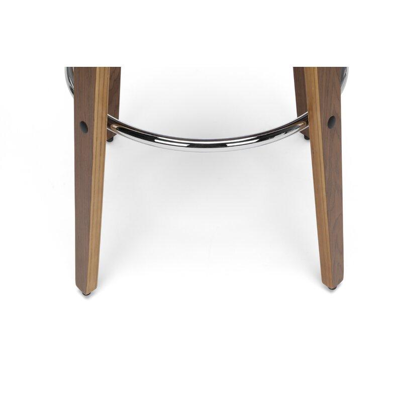 Cool Labelle Mid Century Modern Low Back Bentwood Frame 30 Swivel Bar Stool Dailytribune Chair Design For Home Dailytribuneorg