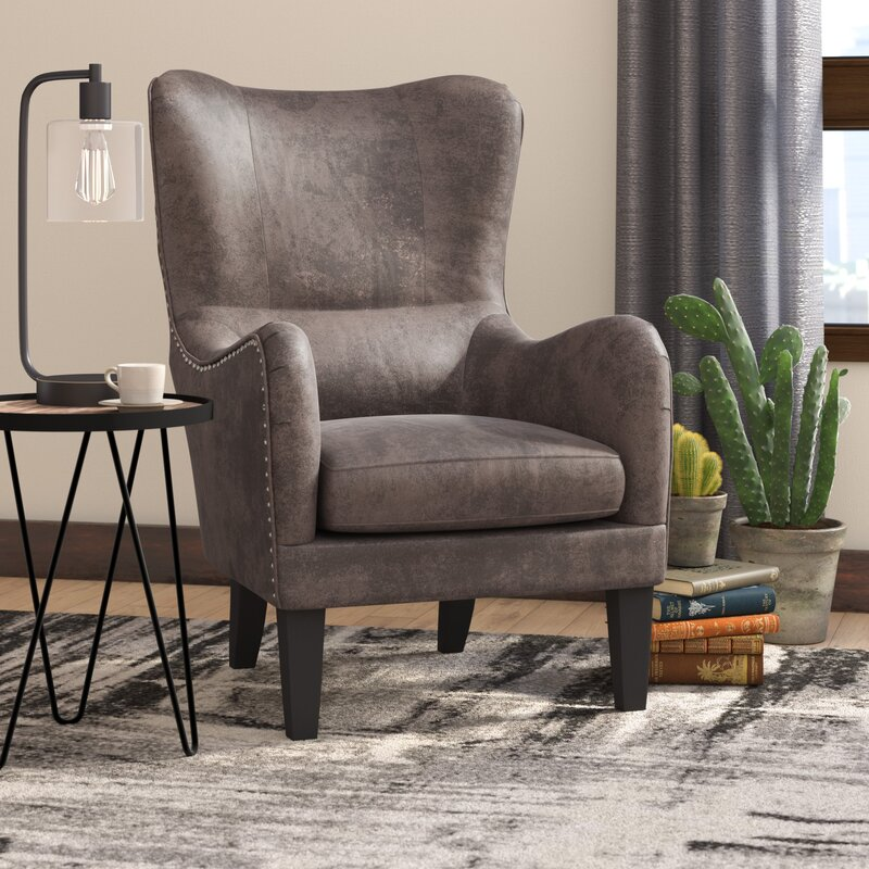 Rockport Hi Back Studded Wingback Chair