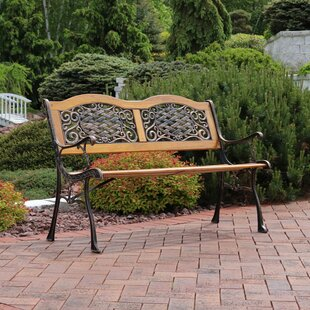 Beau Brundidge 2 Person Crossweave Wood Patio Bench