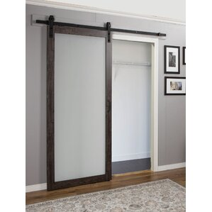Interior Glass Barn Doors interior doors you'll love   wayfair