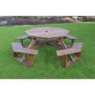 Octagonal Shaped Patio Tables Youll Love Wayfair - Pentagon picnic table