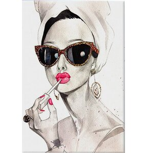 Charmant U0027Audrey Hepburnu0027 Painting Print On Canvas