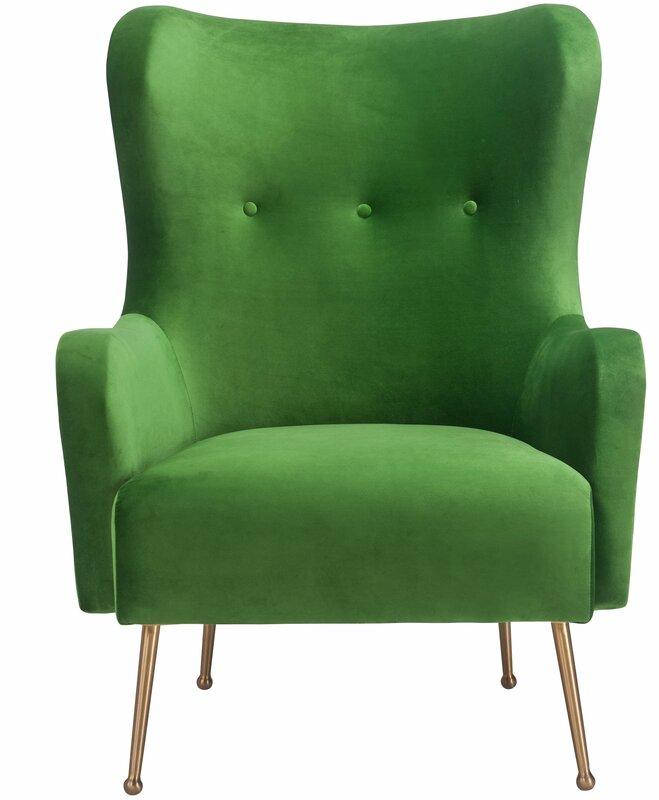 Tayla Velvet Wingback Chair