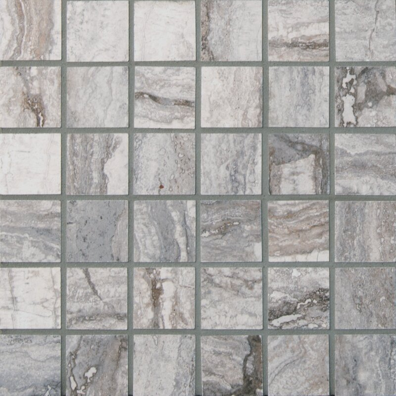 Bernini Carbone 2 X Porcelain Mosaic Tile