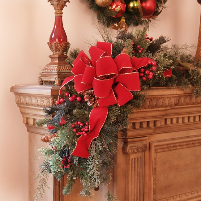 Floral Home Decor Christmas Mantle Corner Piece Amp Reviews