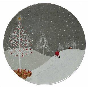 Berkman Santa Comes Home Melamine Dinner Plate (Set of 6)  sc 1 st  Wayfair & Acrylic \u0026 Melamine Christmas Plates \u0026 Saucers You\u0027ll Love