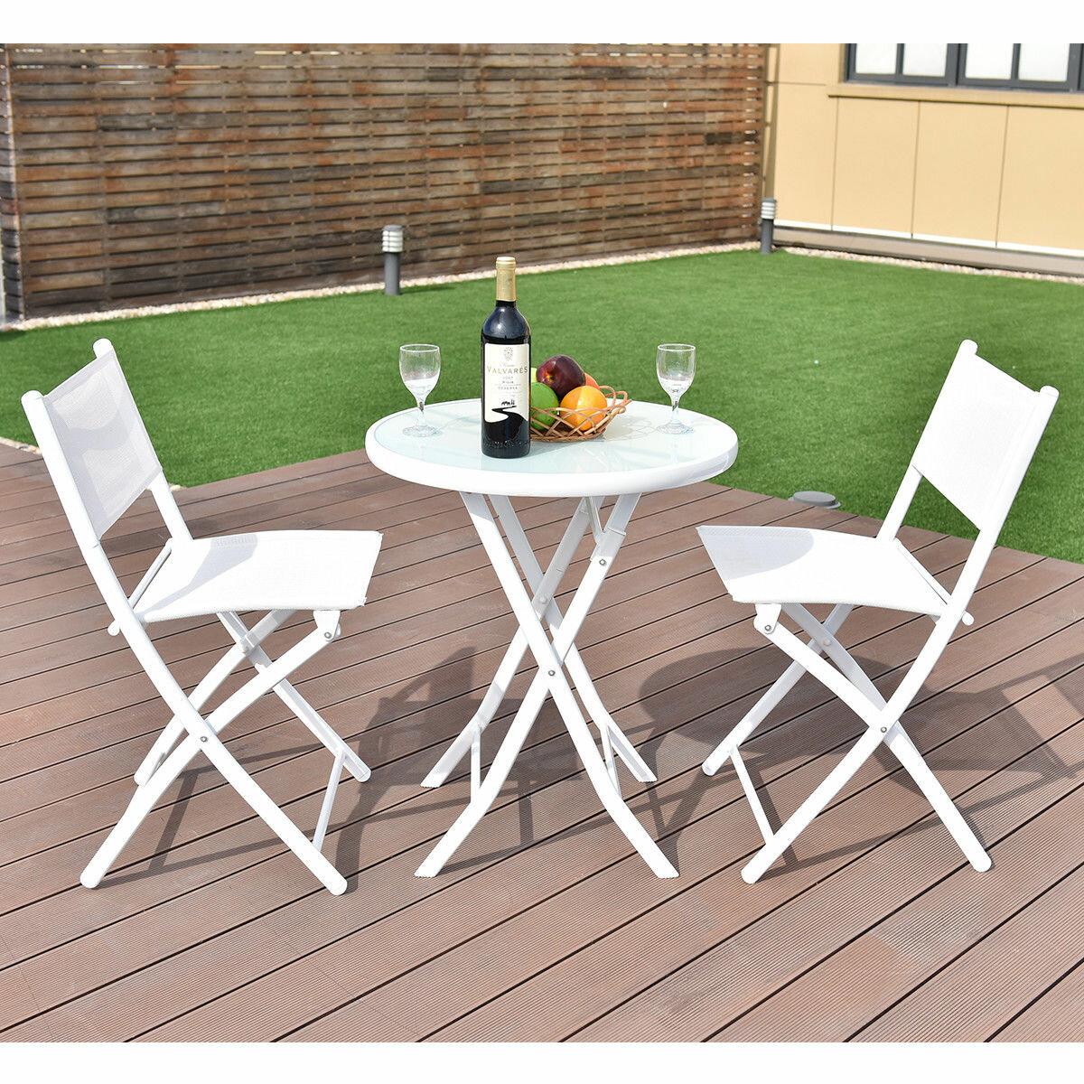 Merveilleux Naczi Folding Garden Backyard 3 Piece Bistro Set
