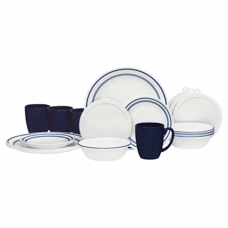 Livingware Classic Cafe 20 Piece Dinnerware Set Service for 4  sc 1 st  Wayfair & Corelle Livingware Classic Cafe 20 Piece Dinnerware Set Service for ...
