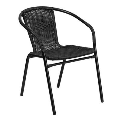 offex rattan indoor outdoor stacking chair wayfair