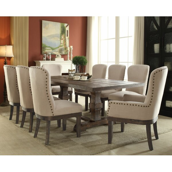 gracie oaks richardson 9 piece dining set & reviews | wayfair