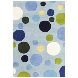 Soho Hand-Tufted Wool Blue Area Rug