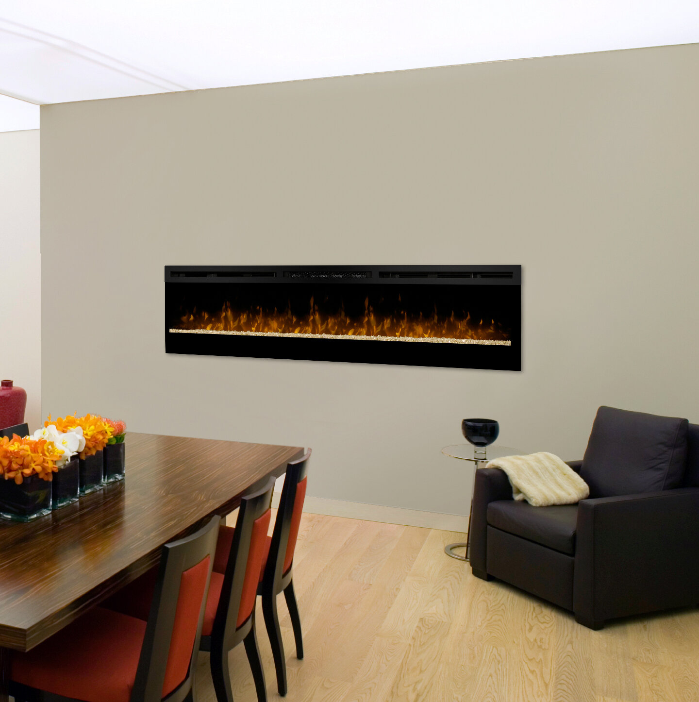 to watch mount mounted fireplace into napoleon a how flush heater install large electric wall