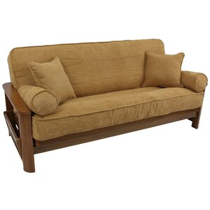 Blazing Needles Microsuede Box Cushion Futon Slipcover