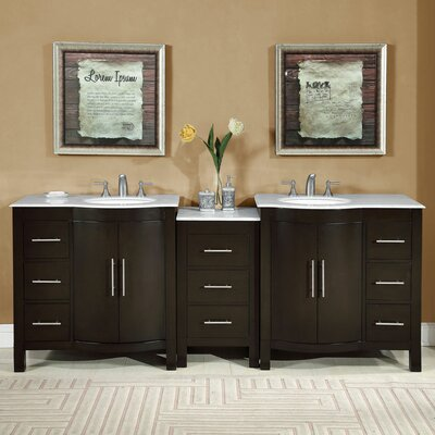 "Bathroom Vanities Jacksonville Fl fresca cambridge 84"" double traditional bathroom vanity set with"