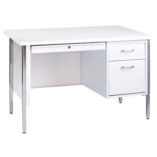 White Desk With Metal Legs Wayfair