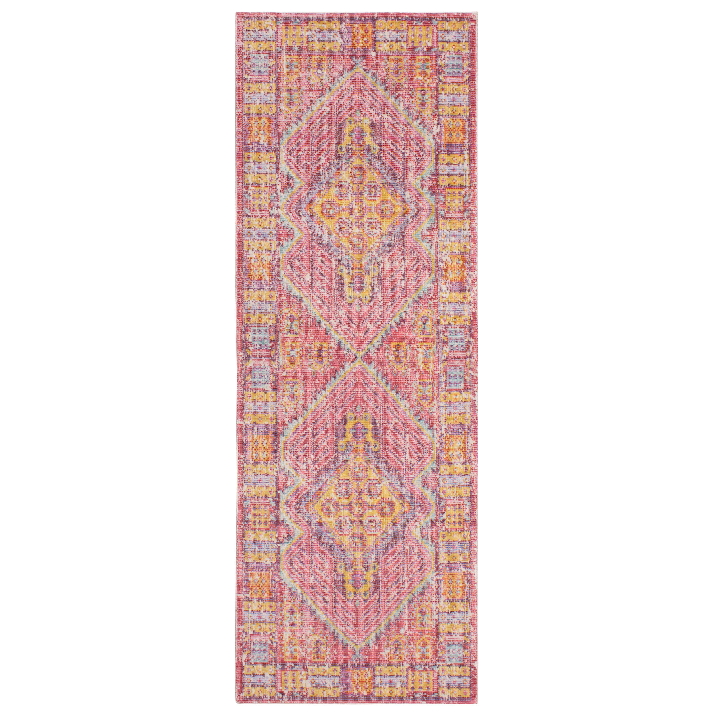French Connection Tonio Colorwashed RedYellow Area Rug