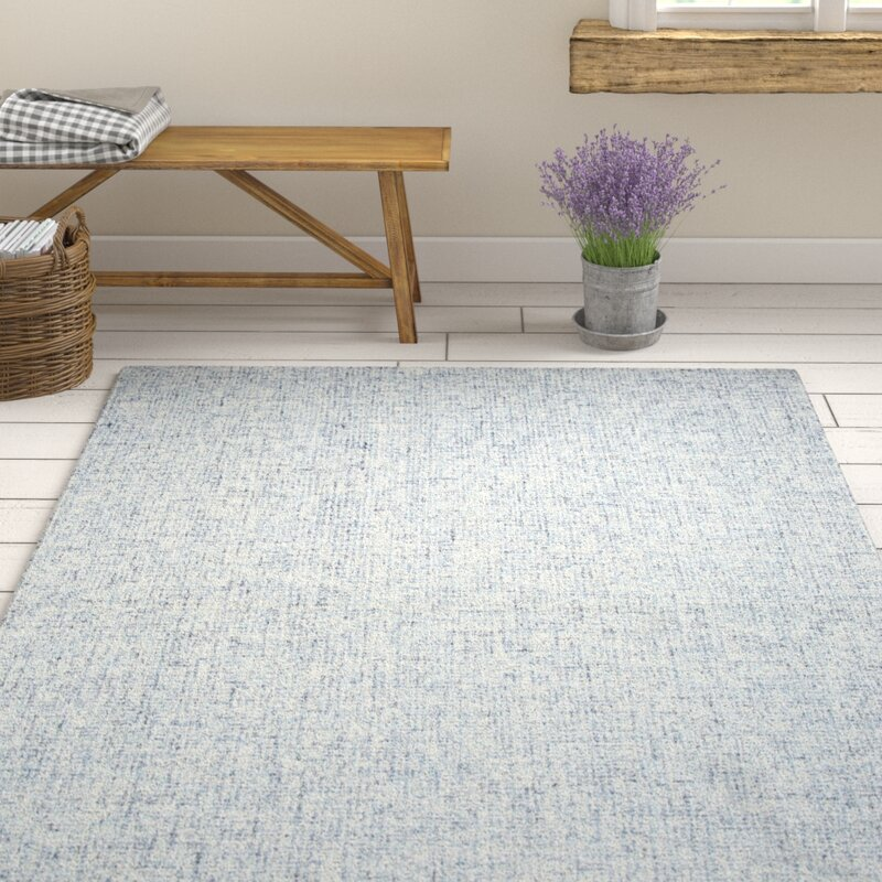 Gracie Oaks Marsh Hand Tufted Wool Blue Area Rug Amp Reviews