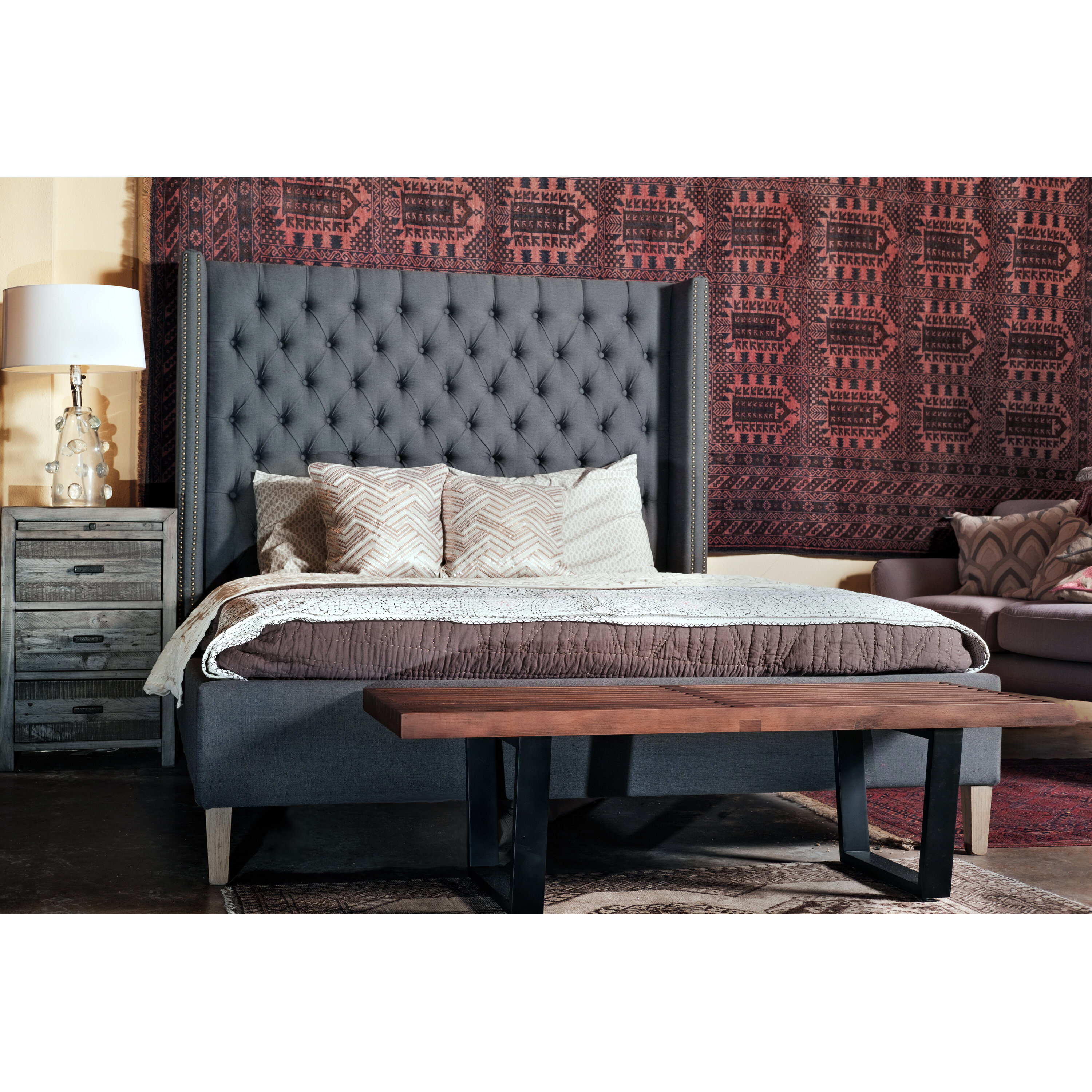 experiencecanyonroad photo x king bed upholstered sleigh bedroom com of