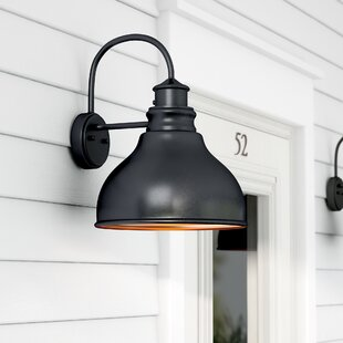 Photocell included outdoor wall lighting youll love wayfair lavardin 1 light outdoor wall lantern aloadofball Images