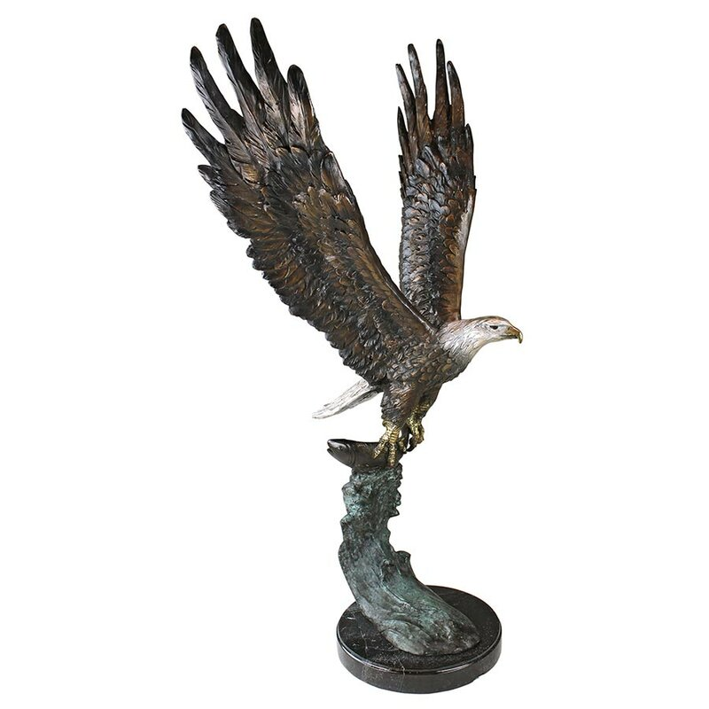 Awesome Majestic Eagle Garden Statue