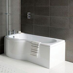 170cm x 85cm Shower Bath Soaking Bathtub