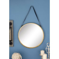 Blue Wall Mirror cole & grey metal round wall mirror & reviews | wayfair