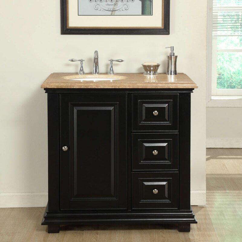 Default nameSilkroad Exclusive 36  Single Sink Bathroom Vanity Set with Sink  . 36 Bathroom Vanity With Sink. Home Design Ideas