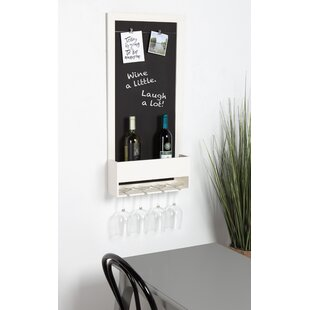Mccaulley Wood Chalkboard 3 Bottle Wall Mounted Wine Rack