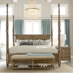 Four Post Canopy Bed bay isle home akrotiri four poster bed & reviews | wayfair