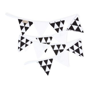 Black Triangles Bunting by KraftKids