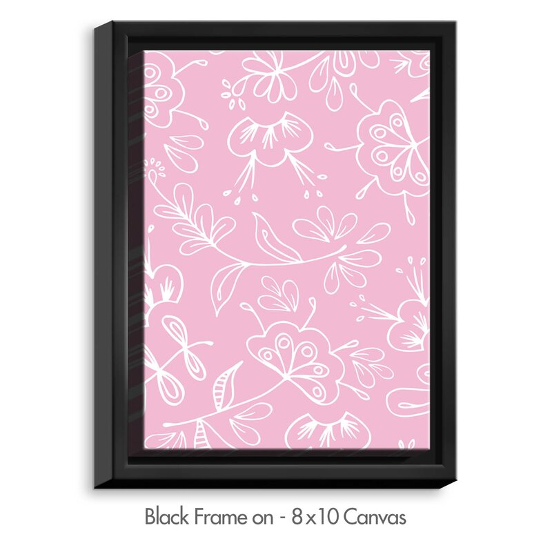Pink Flora Mix By Zara Martina Graphic Art On Wrapped Framed Canvas