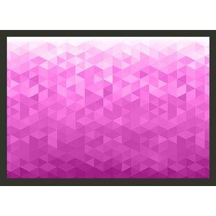 Pink Pixel 245cm x 350cm Wallpaper by East Urban Home