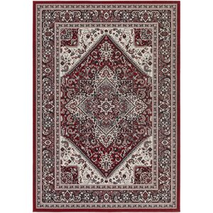 Roosevelt Wheeler Crimson Red / Onyx Black Area Rug