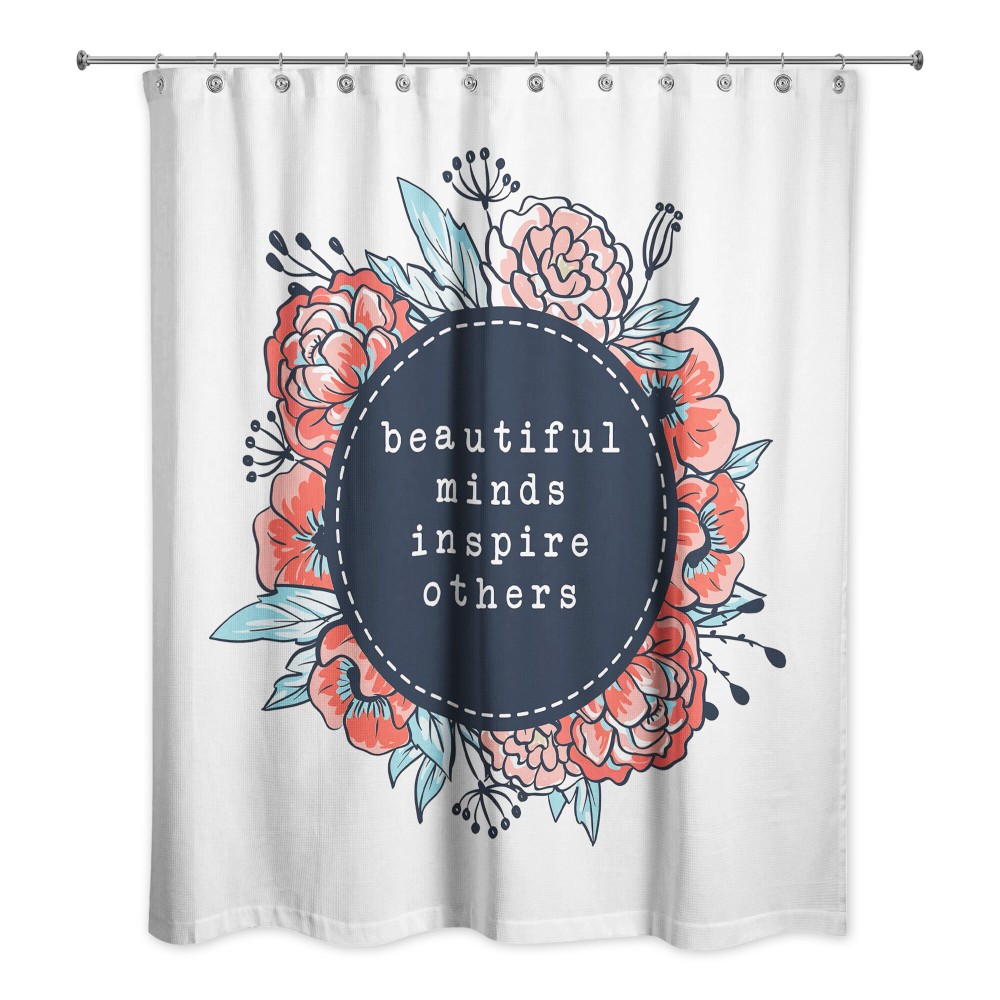 Red Barrel Studio Redd Beautiful Minds Inspire Others Shower Curtain