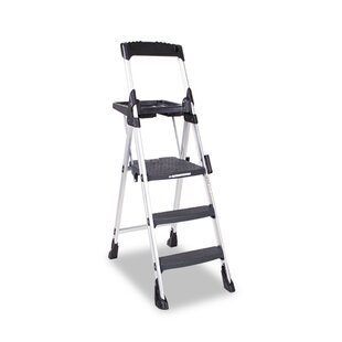 5 75 Ft Aluminum Folding Step Ladder With 300 Lb Load Capacity
