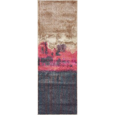 Wrought Studio Wynn Traditional Pink Area Rug Rug Size: Runner 2'2 x 6'