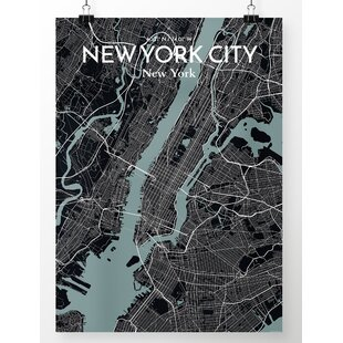 Detailed Map Of New York City.Vintage New York City Map Wayfair