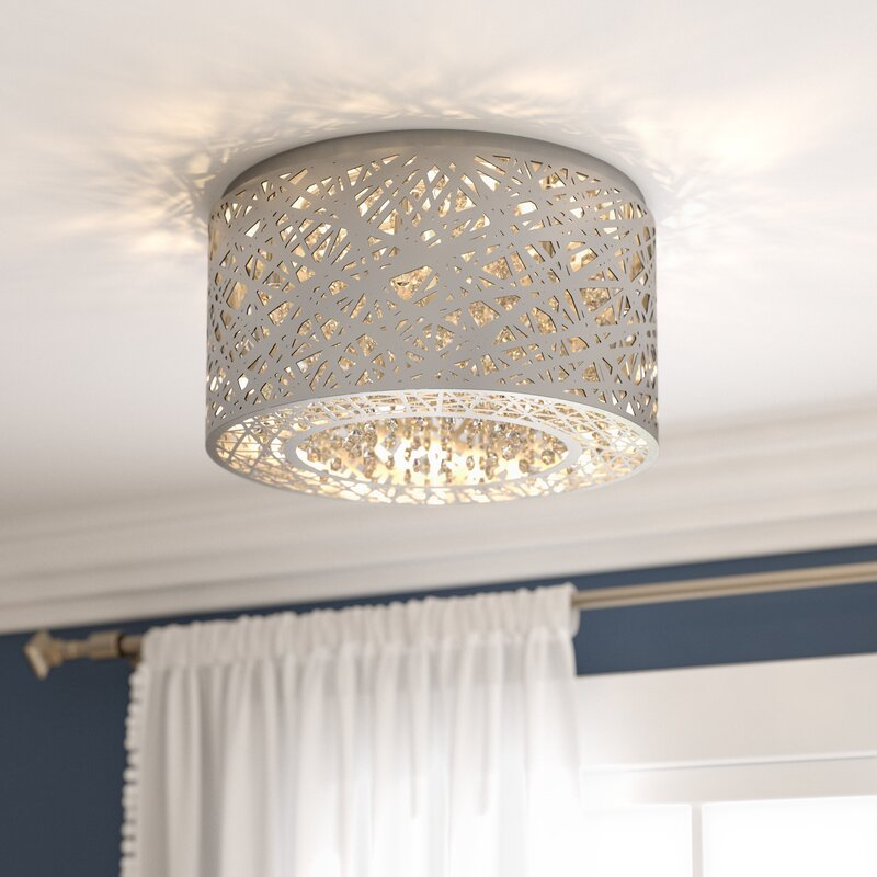 Willa Arlo Interiors Nicklas 7 Light Flush Mount Amp Reviews