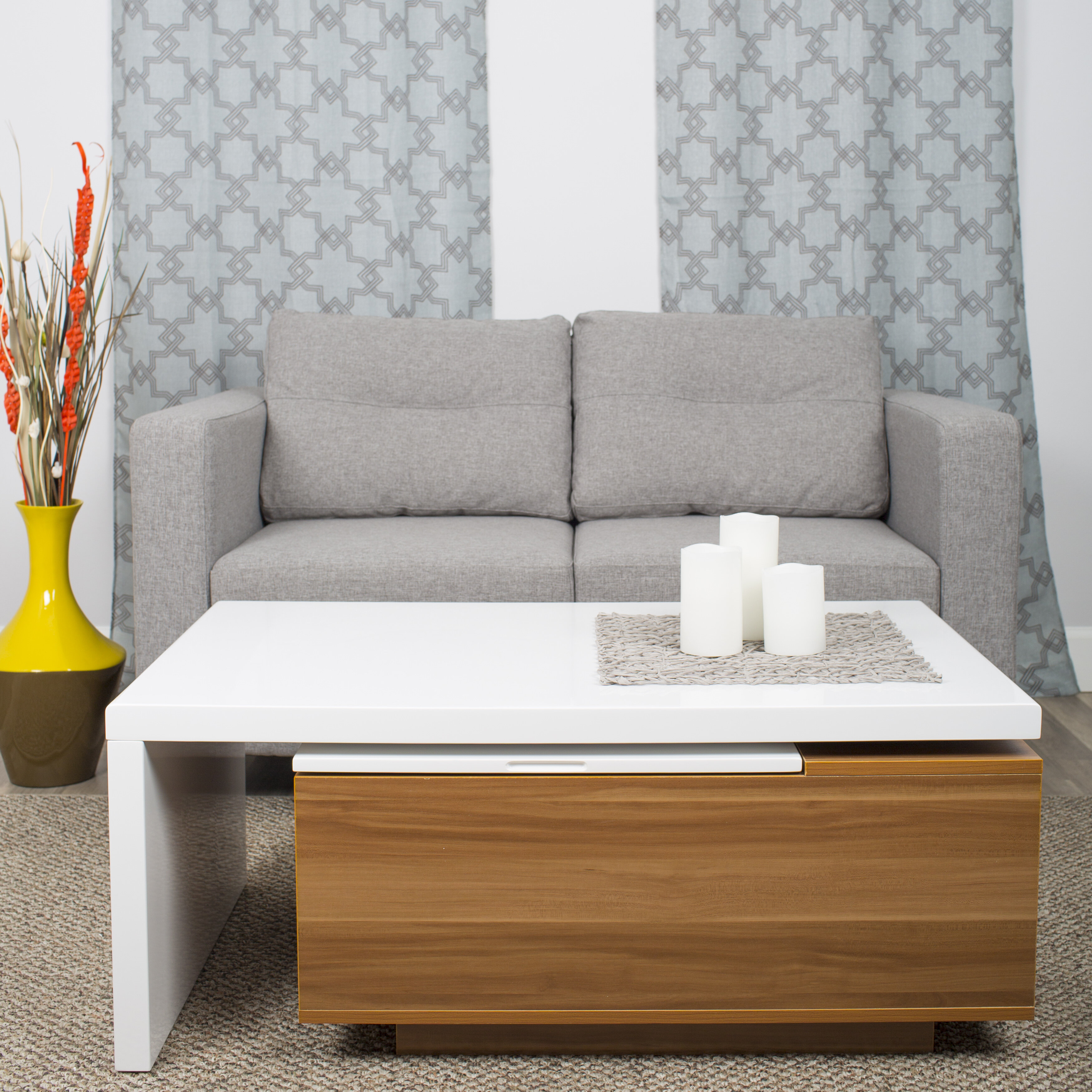 Wayfair   MIX Lift Top Coffee Table With Storage
