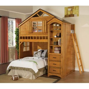 Mila Twin Loft Bed by Zoomie Kids
