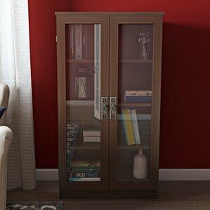 Bookcases With Doors Youll Love Wayfair - Glass door bookshelves