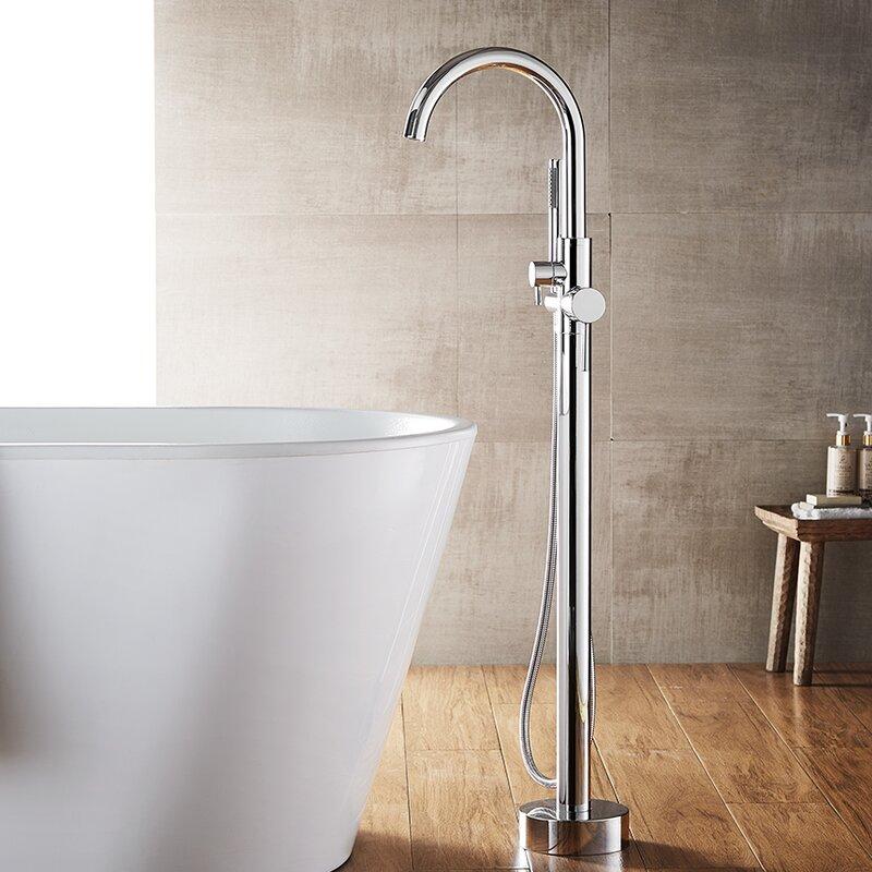 vinnova berkeley single handle floor mount freestanding tub filler