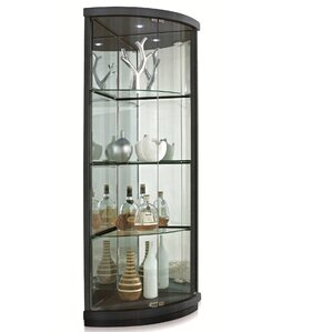 Lighted Corner Curio Cabinet by New Spec Inc